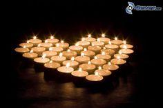 coeur des veilleuses, bougies