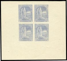 NEW SOUTH WALES - 1890 Allegorical 2½d 'die' proof from a block of 4 electrotypes in dull grey-blue on thin… / MAD on Collections - Browse and find over 10,000 categories of collectables from around the world - antiques, stamps, coins, memorabilia, art, bottles, jewellery, furniture, medals, toys and more at madoncollections.com. Free to view - Free to Register - Visit today. #Stamps #MADonCollections #MADonC South Wales, Blue Grey, 2d, Bottles, Stamps, Coins, Weaving, Auction, Collections