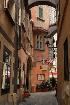 Vienna, Austria. You always see pics of the cathedral and the Hapsburg palaces, but Vienna is a maze of these awesome little warrens between buildings. Vienna's best feature.