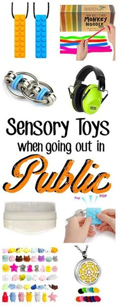 Sensory calming toys that you can bring into public or keep in your purse can be a sanity saver and help your trip out and about to be a successful one. Try these items or find good ideas for the future. Check out this post and find what you've been look Sensory Toys, Sensory Activities, Activities For Kids, Autism Sensory, Sensory Diet, Calm Down Corner, Calm Down Bottle, Mermaid Pillow, Sensory Processing Disorder
