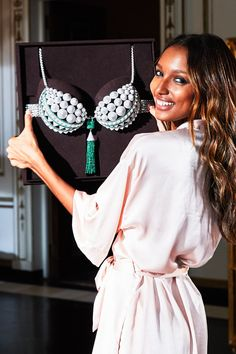 Jasmine Tookes sets her sights on the 2016 Victoria's Secret Bright Night Fantasy Bra—designed by Eddie Borgo and hand-crafted by Aziz & Walid Mouzannar. See her, and the $3 million bra, at the Victoria's Secret Fashion Show, Dec. 5 at 10/9c on CBS.