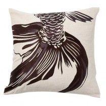 Chocolate Fishtail Throw Pillow