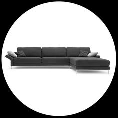 The Ego principle. The Rolf Benz Ego sofa in black.