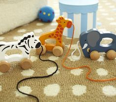 Wood Animal Pull Toys