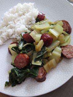 Wok de blettes aux saucisses fumées 41 les legumes de lamap 28 legumes cuisine vietnamienne