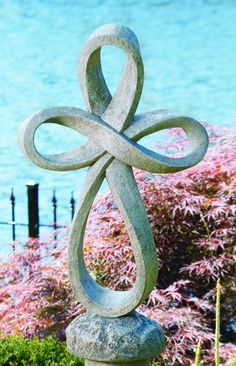 Lawn Ornament - Religious Statue - Enternity Cross Concrete Religious Statue - Shown in Old Stone - H x W Resin Garden Statues, Garden Statues For Sale, Outdoor Garden Statues, Outdoor Sculpture, Garden Sculpture, Concrete Statues, Stone Sculpture, Prayer Garden, Meditation Garden