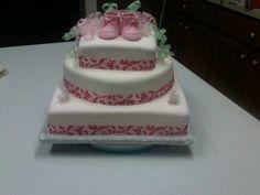Baby Shower Cake   My 2nd fondant CAKE