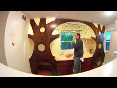 time lapse video Dad Redecorates Girls' Room, Builds Indoor Treehouse With A Hammock - Daily Megabyte