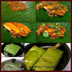 SarasYummyBites: Meen pollichathu/ Fish fry in plantain leaf wrap Fried Fish Recipes, Veg Recipes, Curry Recipes, Salmon Recipes, Seafood Recipes, Indian Food Recipes, Vegetarian Recipes, Chicken Recipes, Cooking Recipes