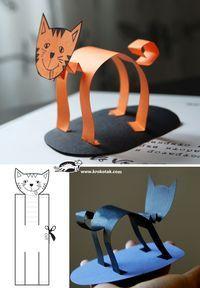 een kat uit papier