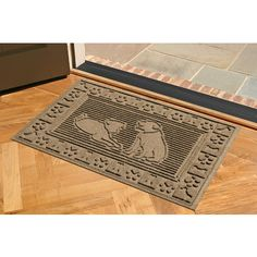 Great way to show your guests that your house is dog-friendly!  Best Friends Dog Doormat - $33 at www.dogids.com