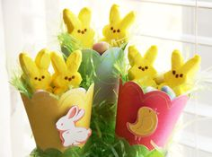 Easter Cones made with CCR Exclusive 3D Cones. Great way to share treats!