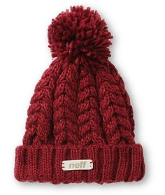 Stay warm in ultra fresh style from the summits to the streets with this fold style beanie made with a chunky knit construction and a large pom pom at top.