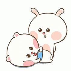 The perfect Tuagom Puffybear Kiss Animated GIF for your conversation. Cute Couple Cartoon, Cute Cartoon Pictures, Cute Love Pictures, Cute Love Gif, Cute Cat Gif, Cartoon Gifs, Cute Cartoon Wallpapers, Good Morning Kiss Gif, Gif Sailor Moon