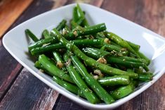 Recipe for Summer Savory and Garlic Green Beans at Life's Ambrosia