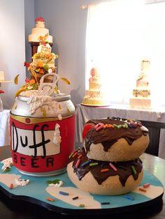 Homer Beer & Donuts cake | Flickr - Photo Sharing!