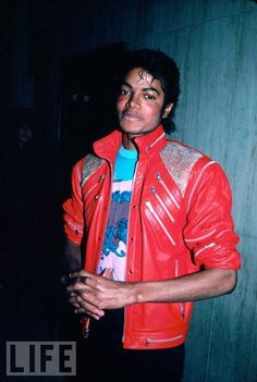 The classic red studded jacket, 1983