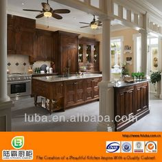 walnut solid wood kitchen cabinets classical american style