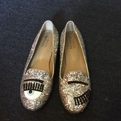 Chiara Ferragni flirting glitter loafer sequin Xmas gift from a friend.Worn few times. Size:38 no original box/dust bag. Chiara Ferragni  Shoes