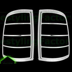 Promo Xyivyg 2009 16 For Dodge Ram 1500 Truck Chrome Abs Taillight Tail Light Trim Bezel Lamp #Dodge #Ram #Trucks