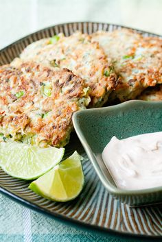 Zucchini Fritters with Feta, Mint and Chili