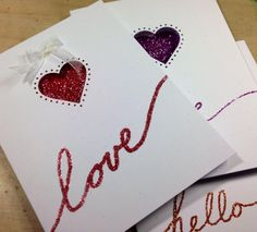 365 Designs: Homemade Valentine's Day Cards with Martha Stewart Crafts Studded Heart Punch All Over The Page Homemade Valentines Day Cards, Valentine Day Crafts, Love Valentines, Martha Stewart Crafts, Craft Punches, Diy Cards, Anniversary Gifts, Card Making, Paper Crafts