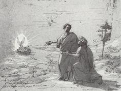 Joseph Anton Koch's art of Dante Alighieri's Divine Comedy, Purgatorio, Canto II.