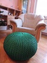 Úžitkový textil - Smaragd puf - 4938758_