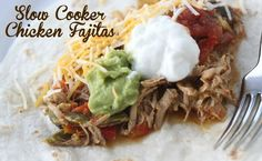 Slow Cooker Chicken Fajitas I will find a low sodium make-your-own flavoring mix