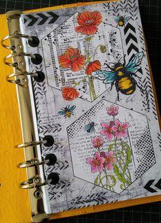 Bullet Journal Art, Art Journal Pages, Art Journals, Junk Journal, Bulletin Journal Ideas, Smash Book Planner, Bujo, Art Journal Tutorial, Elizabeth Craft Designs