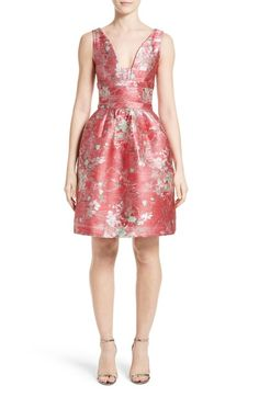 Carolina Herrera Floral Jacquard Cocktail Dress available at #Nordstrom
