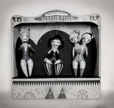 A side show puppet show