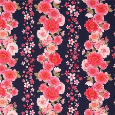 http://www.kawaiifabric.com/en/p11679-navy-blue-with-pink-flower-and-glitter-fabric-from-Japan.html
