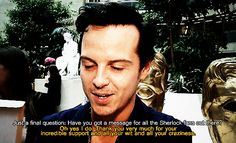 Oooh, he's so hot. I don't care what you think, Andrew Scott is just as good looking as Benedict Cumberbatch.