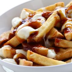 Traditional Quebec Poutine Recipe: a little fancier than your typical three-ingredient poutine. Delish! #ComfortFood