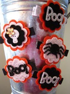 Halloween hair bows  Jaidie Bug Boutique