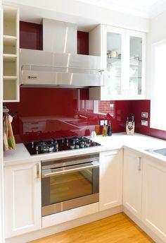 Luxury Kitchen with Red Backsplash