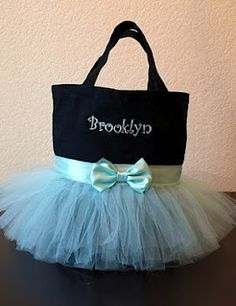 Tutu tote! For all you moms with a girl in dance - this is too cute