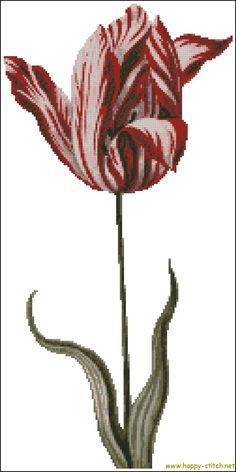 Vintage tulip cross stitch chart