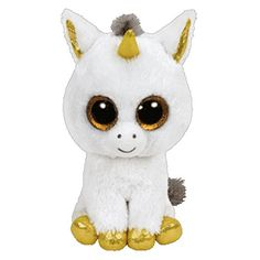 Ty Beanie Boo Buddy Plush Pegasus the Unicorn by Beanie Boos. Ty Beanie Boo Buddy Plush Pegasus the Unicorn Ty Beanie Boos, Beanie Babies, Plush Dolls, Doll Toys, Plush Animals, Cute Animals, Ty Stuffed Animals, Stuffed Toys, Ty Peluche