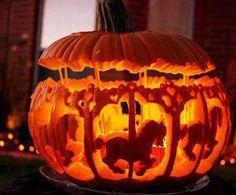 carosel horse pumpkin