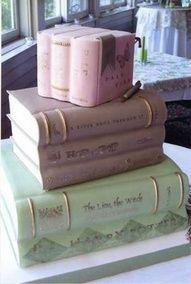 Cake Idea: I love this book cake by Gateaux Inc ! Gorgeous Cakes, Pretty Cakes, Amazing Cakes, Unique Cakes, Creative Cakes, Fondant, Book Cakes, Novelty Cakes, Wedding Book