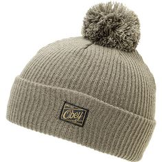 You will instantly notice the warmth of the ribbed knit construction on the Obey Old Timey gunmetal pom fold beanie. Snag a new all-acrylic fold beanie that can be worn as a slouch with an Obey brand tag on the front of the fold, and a black pom on top because it adds some fun style.