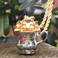 🌿:: The Tea Party Hedgehog Large Pendant Still Life Photography, Afternoon Tea, Enchanted, Tea Party, Hedgehog, Tea Cups, Cute Animals, Enamel, Hand Painted