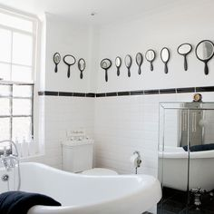 love the mirrors and 50s style tiling