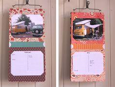 Kalender zelf maken met foto's en scappapier