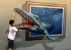 Pinturas 3D incrivelmente realistas são um convite a uma boa foto - 12