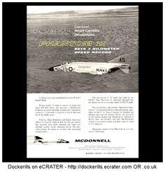 McDonnell Phantom II. Phantom Sets Three Kilometer Speed Record. Vintage Advert. From Interavia Magazine, 1960.