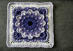 "FREE THRU Ravelry: Fan Dance 12"" Afghan Block pattern by Polly Plum"