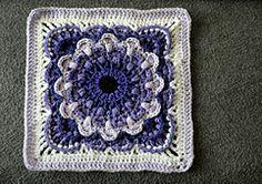 "FREE THRU Ravelry: Fan Dance 12"" Afghan Block pattern by Polly Plum"